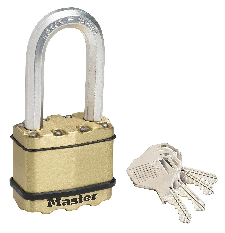 Master Lock M1EURDLH Cadenas Excell Haute S/écurit/é /à Longue Anse /à Cl/é pour Cave en Acier Lamin/é 45 mm
