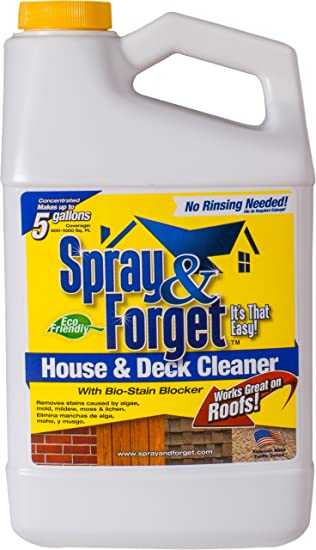 spray u0026 forget house u0026 deck cleaner concentrate 64 oz bottle 1 count
