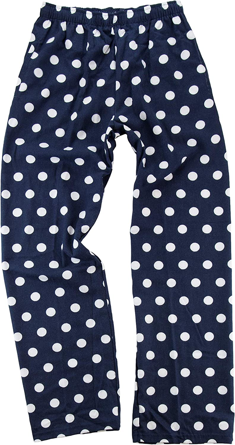 CTM Boxercraft Flannel Pants with Side Pockets