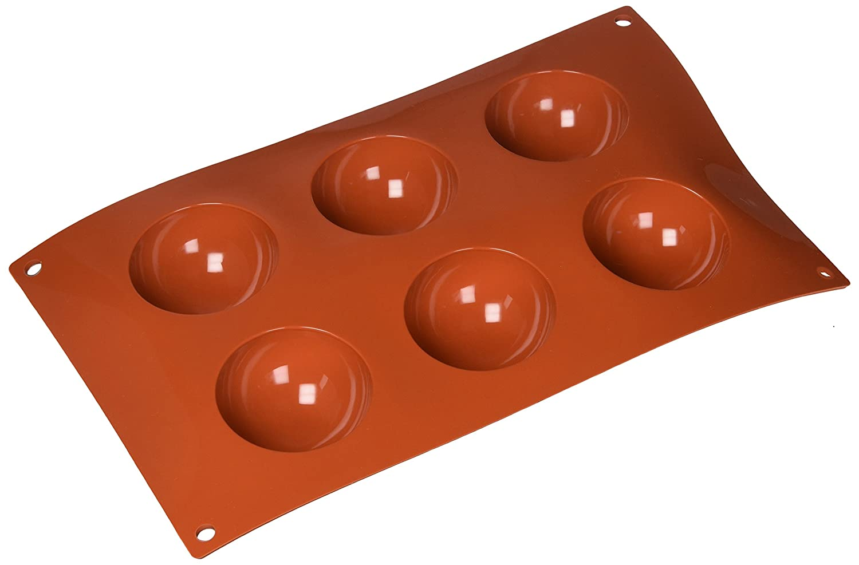 30mm Silikomart Mould Half-Sphere Orange