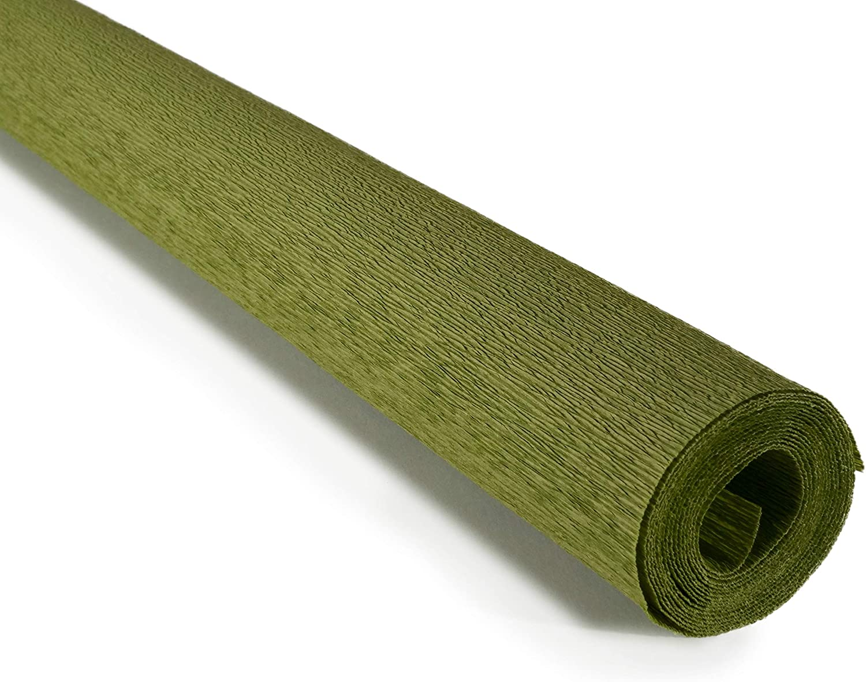 Olive Green by Tiffanie Turner Premium Italian 90 g Crepe Paper Crepe Paper Roll