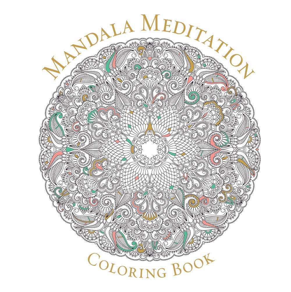 Mandala Meditation Coloring Book Peaceful Coloring Amazon In