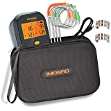 Inkbird WiFi Digital BBQ Meat Thermometer IBBQ-4T with 4 Probes Rechargeable Battery + Waterproof Carrying Case for BBQ…