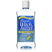 TN Dickinson's Witch Hazel Natural Astringent, 16 oz (Pack of 3)