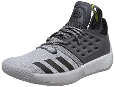 sports shoes a98ef 06d34 adidas Men s Harden Vol. 2, White Grey Black, ...
