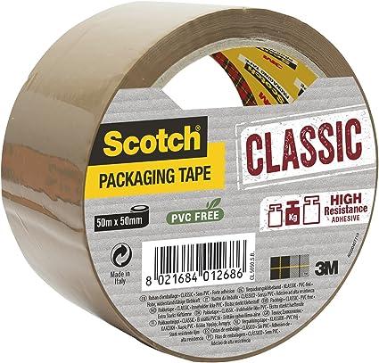 Avana Scotch Nastro da Imballo 3M Packaging Tape Heavy//Nastro Adesivo Ultra Resistente 50mm x 66m Confezione da 3 Rotoli