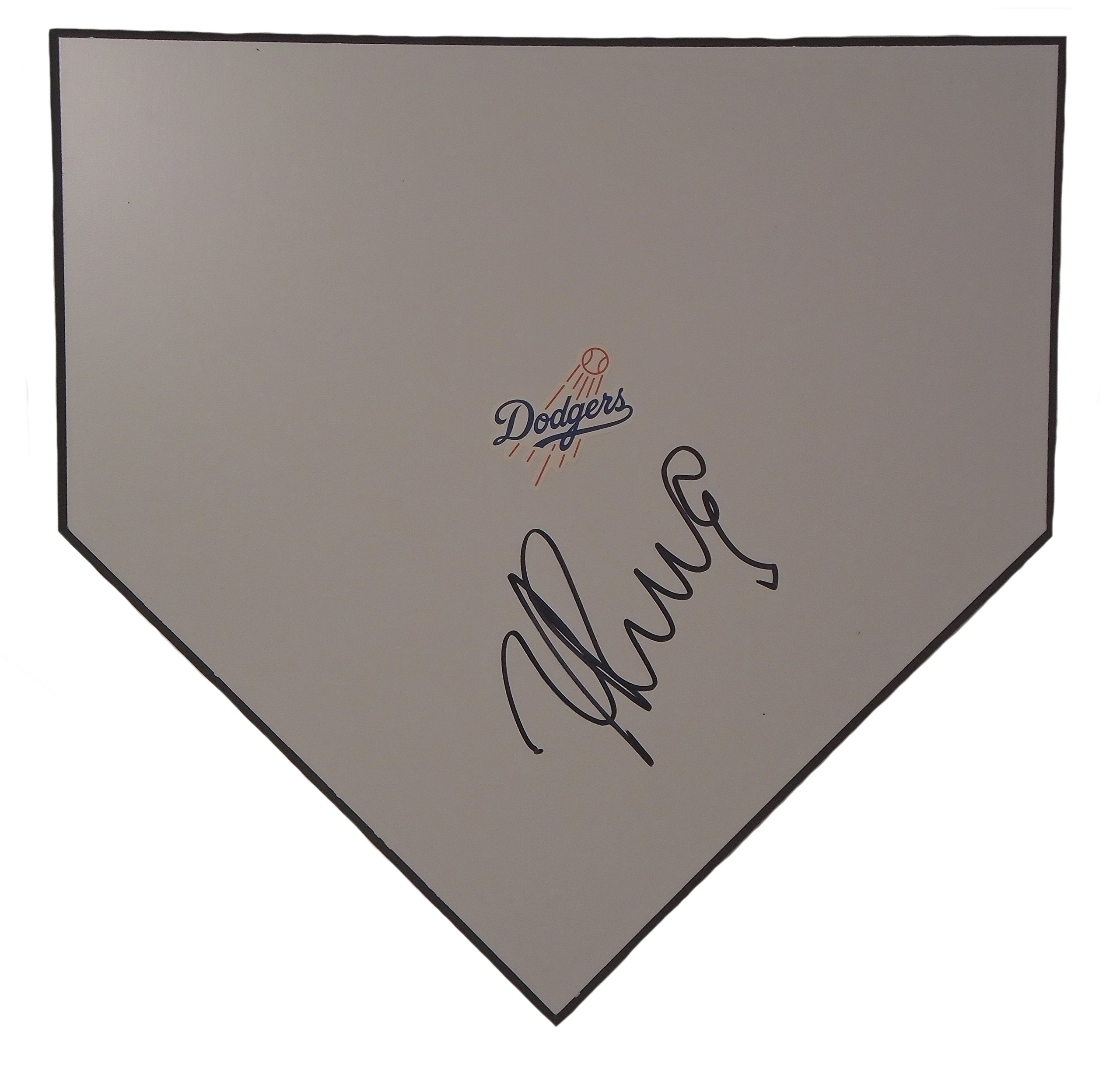 L.A. Dodgers Yasiel Puig Autographed Hand Signed Los Angeles Dodgers Baseball Home Plate Base with Proof Photo of Signing and COA