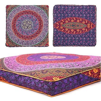 Amazon.com: Third Eye Export Indian Mandala Floor Pillow Square ...
