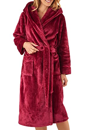 Slenderella Womens Super Soft Thick Fleece Dressing Gown Luxury