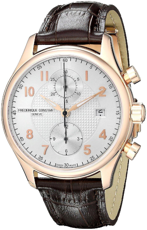 フレデリックコンスタント Frederique Constant Men's FC393RM5B4 Analog Swiss Automatic Brown Leather Watch [並行輸入品] B010NEXPB8