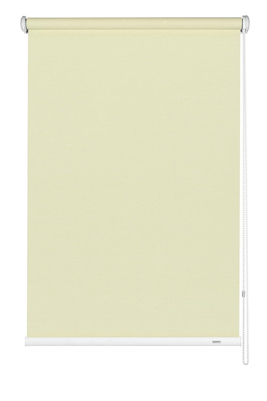 GARDINIA Seitenzug-Rollo, Decken-, Wand- oder Nischenmontage, Lichtdurchlässig, Blickdicht, Alle Montage-Teile inklusive, Farbe  Champagner, 182 x 180 cm (BxH)