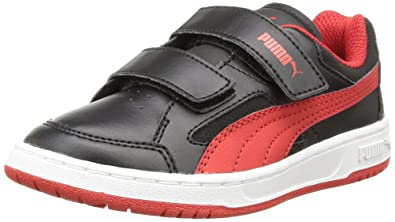 82afac666c7 Puma Unisex Kids Rebound v2 Lo Kids High-top Trainers Black Size  4 Child