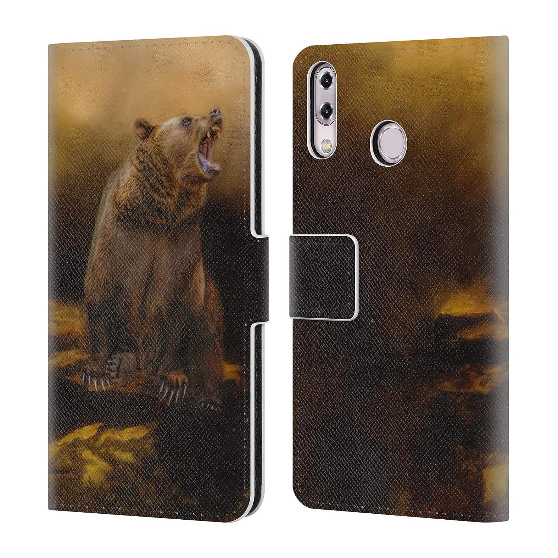 M1 Officiel Simone Gatterwe Panda Bear Animaux /Étui Coque De Livre en Cuir pour ASUS Zenfone Max ZB555KL