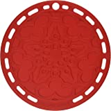 "Le Creuset Silicone French Trivet, 8"" , Cerise"