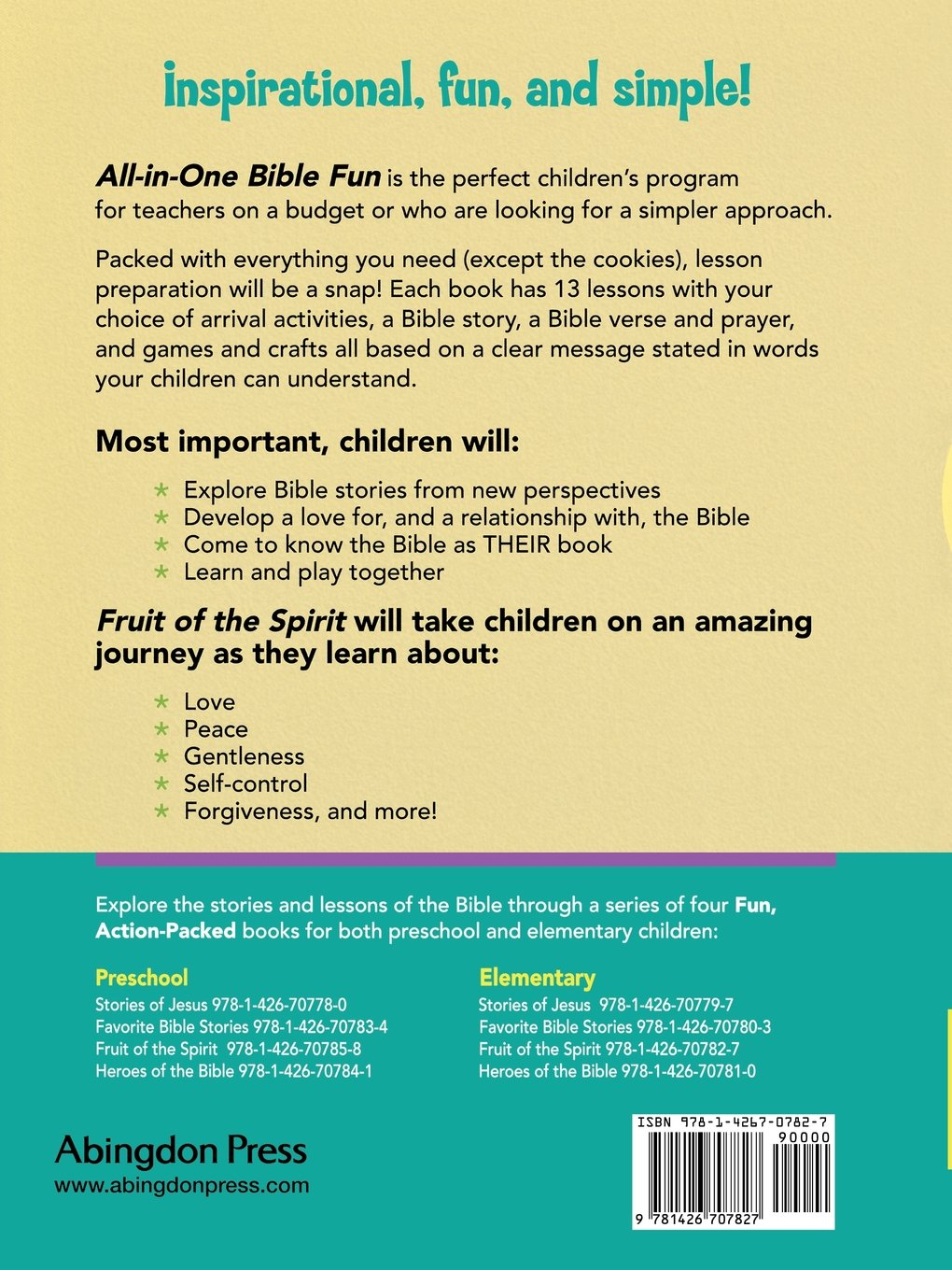 all in one bible fun for elementary children fruit of the spirit