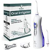 LifeBasis Jet dentaire Irrigateur oral - Hydropulseur rechargeable portable imperméable pour voyage - pour le nettoyage des dents Bleu