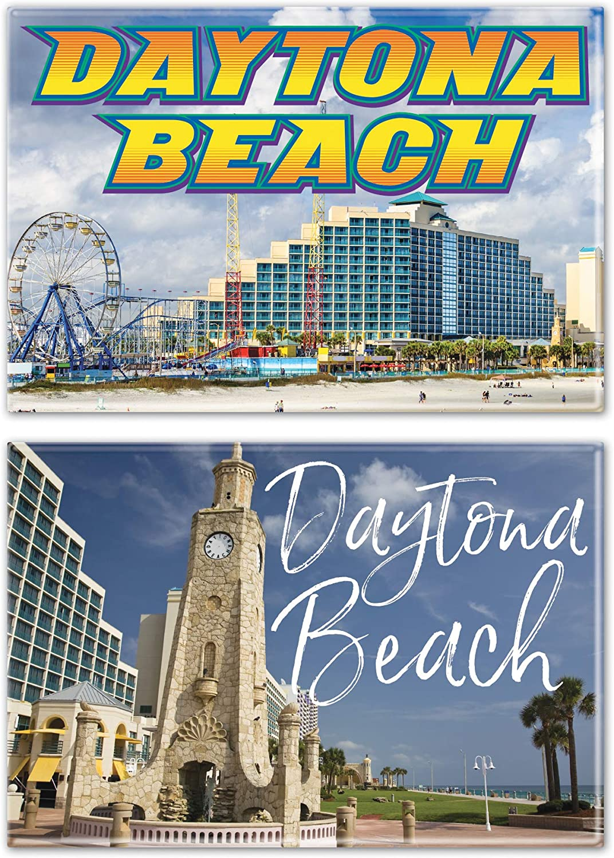 NA 2pack 2 x 3City//Florida Daytona Beach Rectangle Magnet 2pack 2 x 3 Multi WinCraft Destination Florida Daytona Beach City//Florida Daytona Beach Rectangle Magnet