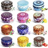 12 Pcs Candle Tin Jars DIY Candle Making kit Holder Storage case for Dry Storage Spices, Camping, Party Favors, and…