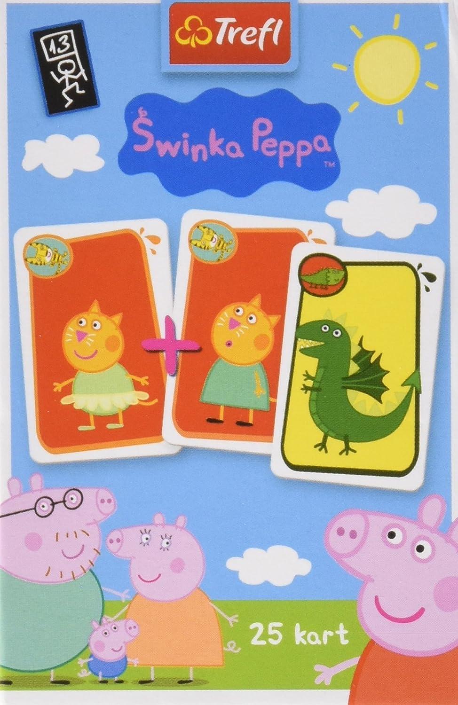 Trefl Schwarzer Peter Kartenspiel mit den Helden von Peppa Pig / Peppa Wutz , 25 Karten KT-08277