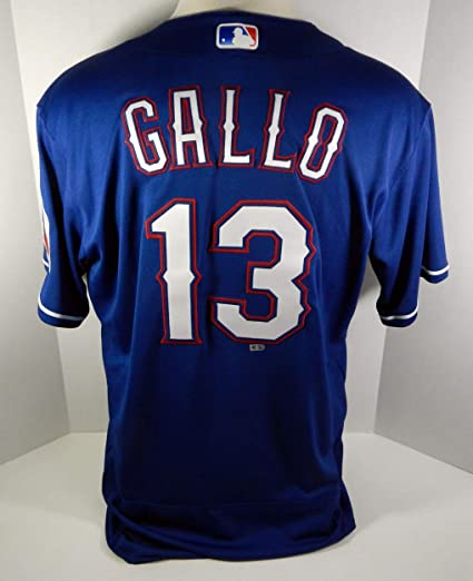 info for 2d165 33fe4 2018 Texas Rangers Joey Gallo #13 Game Issued Blue Jersey ...