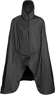 product image for Mambe Extreme Weather 100% Waterproof/Windproof Hooded Blanket with Premium Stuff Sack (Size: XL, Black-Black) Made in The USA