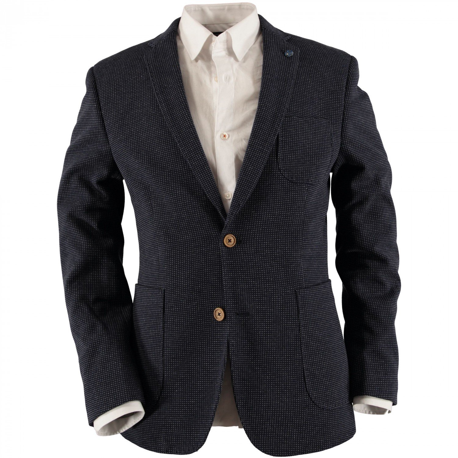 State of Art Blazer - Kariert - Tailored Fit - Jersey Jacquardstrick 15121/5895