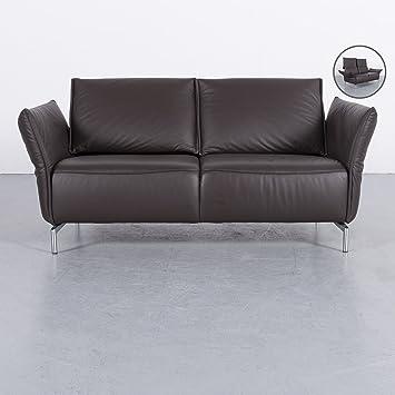 Amazon De Koinor Vanda Leder Sofa Braun Zweisitzer Couch Echtleder