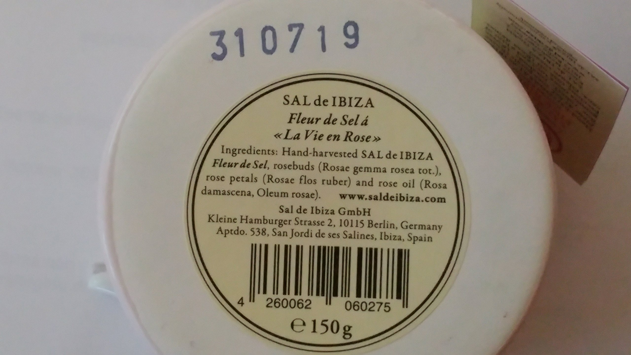 Sal de Ibiza Fleur de Sel e Rose - Sea Salt With Rose Petals - 4.4oz. by Sal de Ibiza (Image #1)
