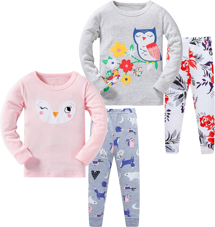 AmberEft Girls Pajamas Kids Clothes 100/% Cotton Shorts PJs Summer Sleepwear 1-12 Years