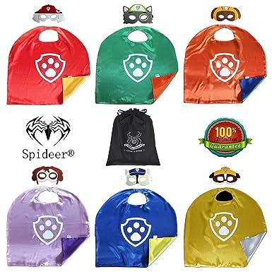 spidermarket Paw Patrol Set de 6 Capa y Máscara de cosplay disfraz de niños