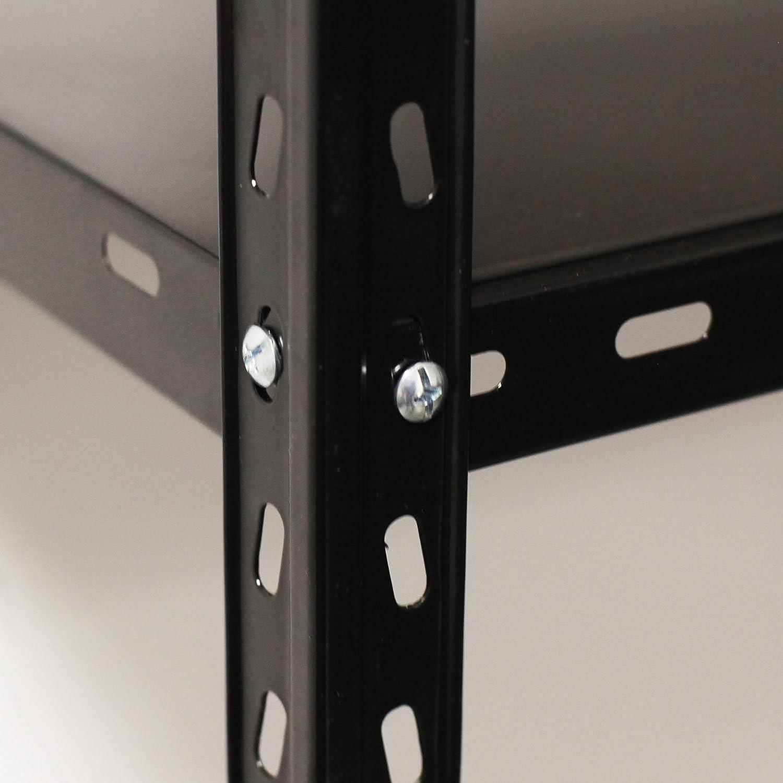 NAWA Kit Estanter/ía Met/álica 150 x 75 x 30 cm Negra