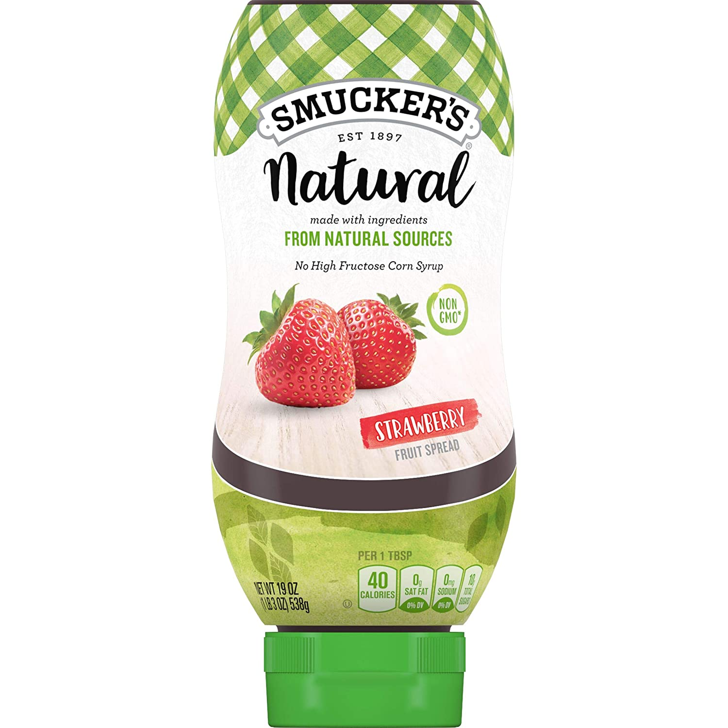 Smucker's Natural Strawberry Squeezable Fruit Spread, 19 Ounces