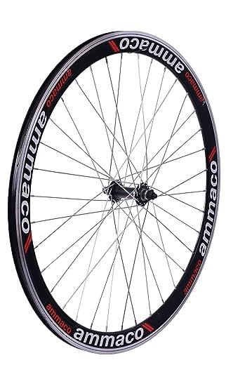 AMMACO 700C llanta de doble pared 36 HOLE aleación de bicicleta rueda delantera PVP £49,99!: Amazon.es: Deportes y aire libre