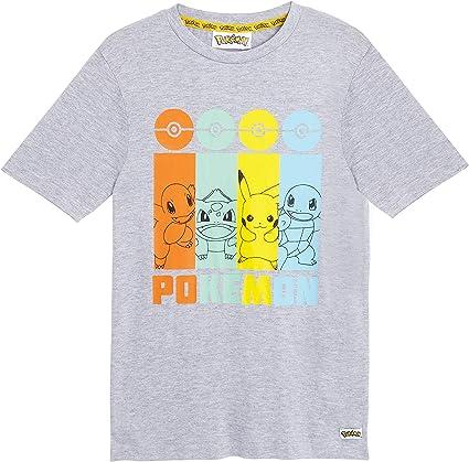 Pokemon Camiseta Niño, Camisetas Niño Manga Corta con Personajes Pikachu Bulbasaur, Charmander y Squirtle, Camiseta Color Gris Algodon, Regalos para Niños Niñas 4-14 Años: Amazon.es: Ropa y accesorios