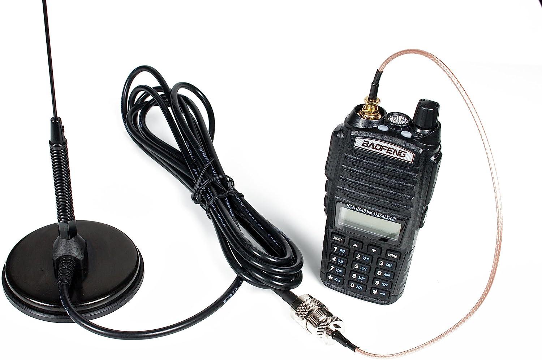 New Nagoya UT-72 SMA-Female Radio Antenna Coil Magnetic Mount 144//430Mhz 2 Pcs