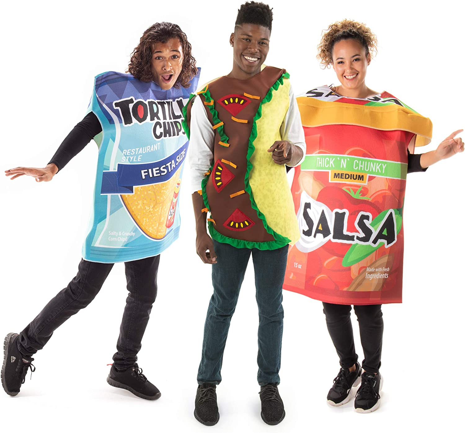 Taco with Chips & Salsa Halloween Group Costume - Funny Food Outfits Unisex