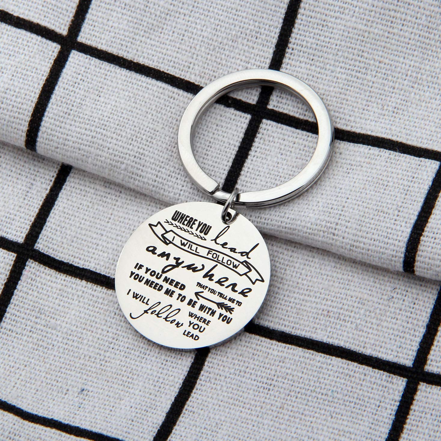 AKTAP Gilmore Girls Gifts Mother Daughter Keychain Where You Lead I Will Follow (Follow You Keychain) by AKTAP (Image #5)