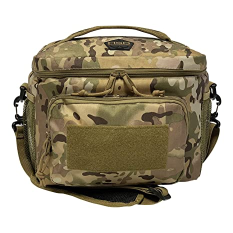 3004c2e63b87 HSD Tactical Lunch Bag - Insulated Cooler, Lunch Box with MOLLE/PALS  Webbing, Adjustable Padded Shoulder Strap, for Adults (Multicam)…