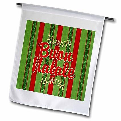 Buon Natale Meaning In English.Amazon Com 3drose Buon Natale Italian Christmas Festive Stripes In