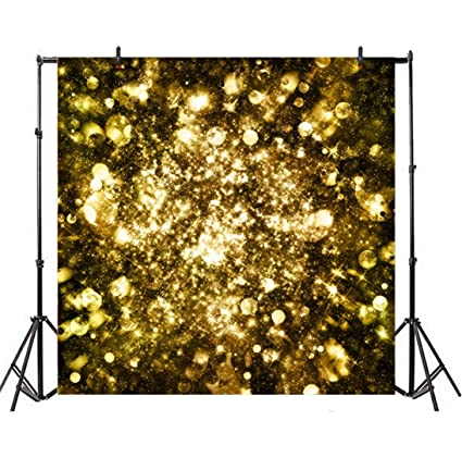 Leyiyi 4x4ft Photography Backdrop Vintage Happy Birthday Background Grunge  Light Spots Heavy Metal Rock Music Banquet Summer Party Abstract Galaxy