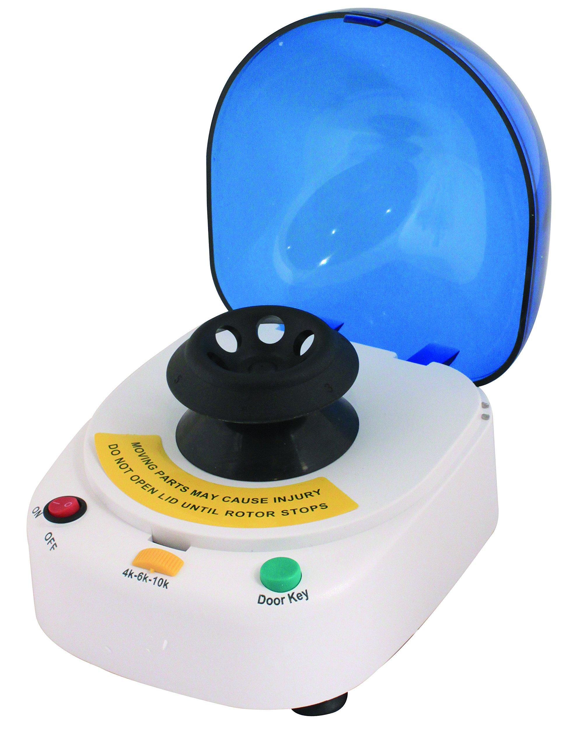 Bio Lion Centrifuge, XC-4610K, Mini desk-top centrifuge, with two separate rotor options, provides speeds of 4,000 rpm with 900g maximum RCF, 6000 rpm with 2,000 g maximum RCF and 10,000 rpm with 5,000 g maximum RCF