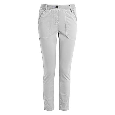 next Pantalon Coupe Droite Casual À Poches Femme Gris EU 40 Regular (UK ... d25466430e4