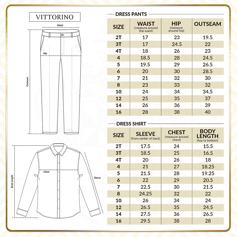 Vittorino Boys Linen Look 4 Piece Suit Set with Vest Pants Shirt and Tie