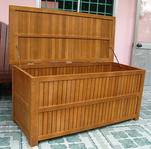 Legno&Design Baúl almacenaje Exterior jardín (Madera de Acacia Maciza: Amazon.es: Hogar