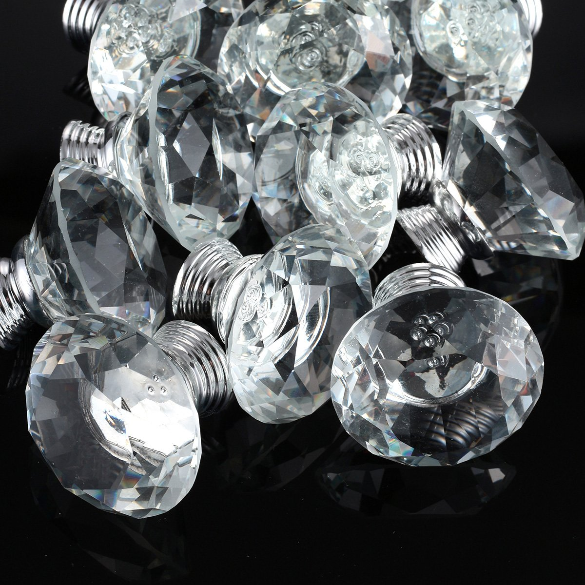 10pcs 40mm Crystal Glass Diamo...