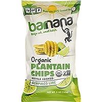 Barnana Organic Plantain Chips - Acapulco Lime - 5 Ounce, 3 Pack Plantains - Barnana Salty, Crunchy, Thick Sliced Snack…