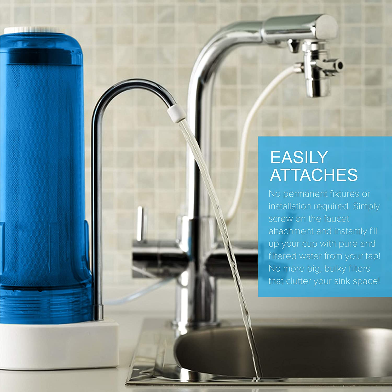 Ecosoft FMV1BOBWEXP Countertop Water Filter in real life