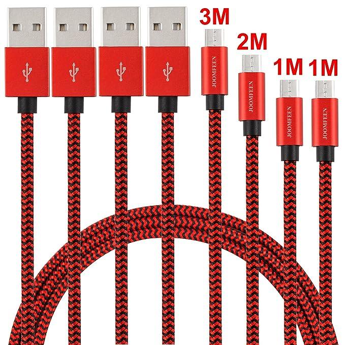 57 opinioni per Cavo Micro USB JOOMFEEN 4pack 1m 1m 2m 3m Nylon Intrecciato Caricabatterie Cavo