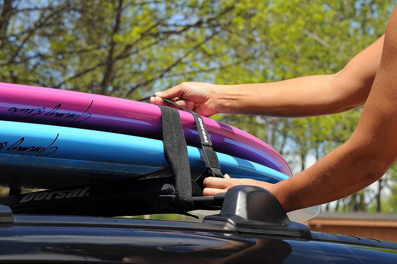 Pair DORSAL Aero Rack Pads 34 Car Crossbar Roof Surfboard Kayak SUP Snowboard