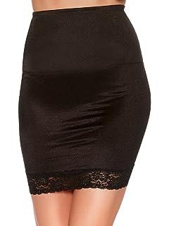 de00bd1dd7 M Co Ladies Shape and Smooth Retro Control Shapewear Lace Trim Hem Half Slip